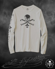 Women's Long Sleeve T Shirt Jean Lafitte ~ Jolly Roger