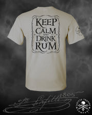 Men's Short Sleeve T Shirt - Jean Lafitte ~ Drink Rum
