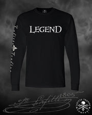 Men's Long Sleeve T Shirt - Jean Lafitte ~ The Legend