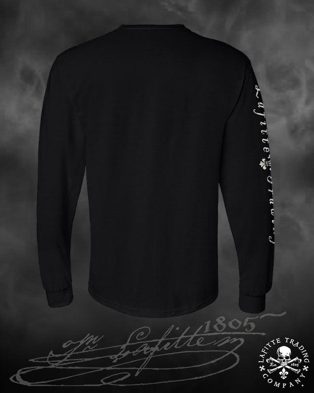 Men's Long Sleeve T Shirt - Jean Lafitte ~ Old School