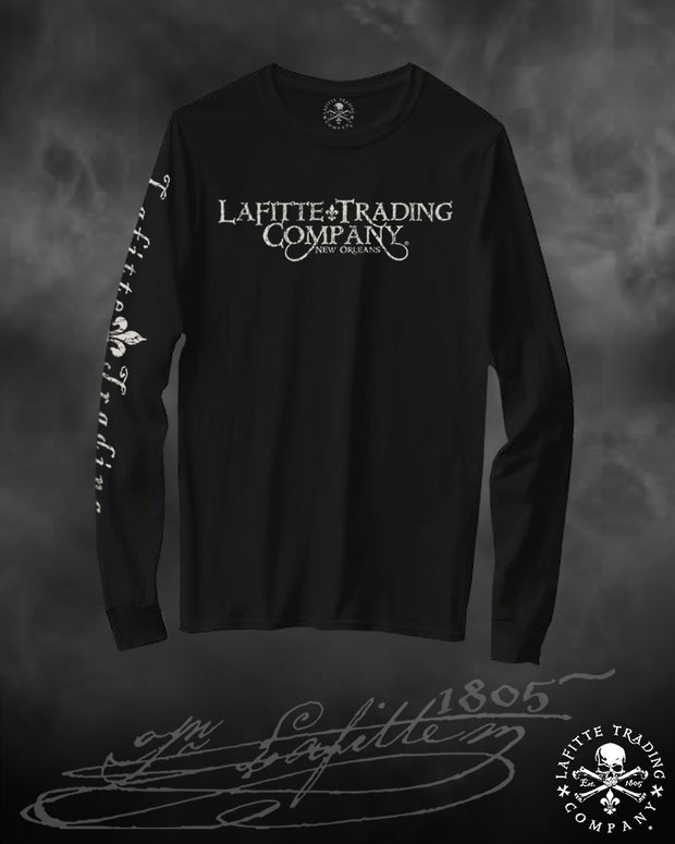 Women's Long Sleeve T Shirt Jean Lafitte ~ Old School