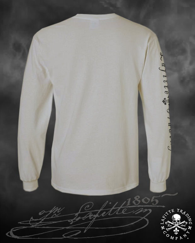 Men's Long Sleeve T Shirt - Jean Lafitte ~ Pirate AF