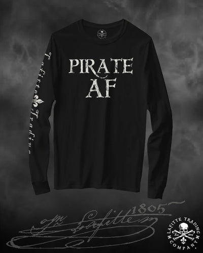 Women's Long Sleeve T Shirt Jean Lafitte ~ Pirate AF