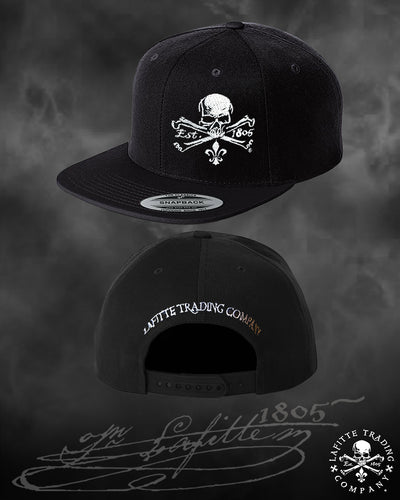 Jean Lafitte ~ Jolly Roger Embroidered Baseball Cap