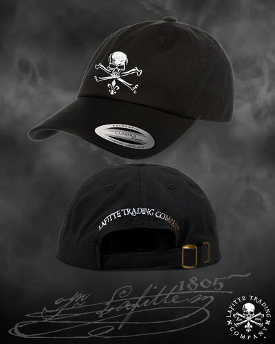 Jean Lafitte ~ Jolly Roger Embroidered Golf Cap