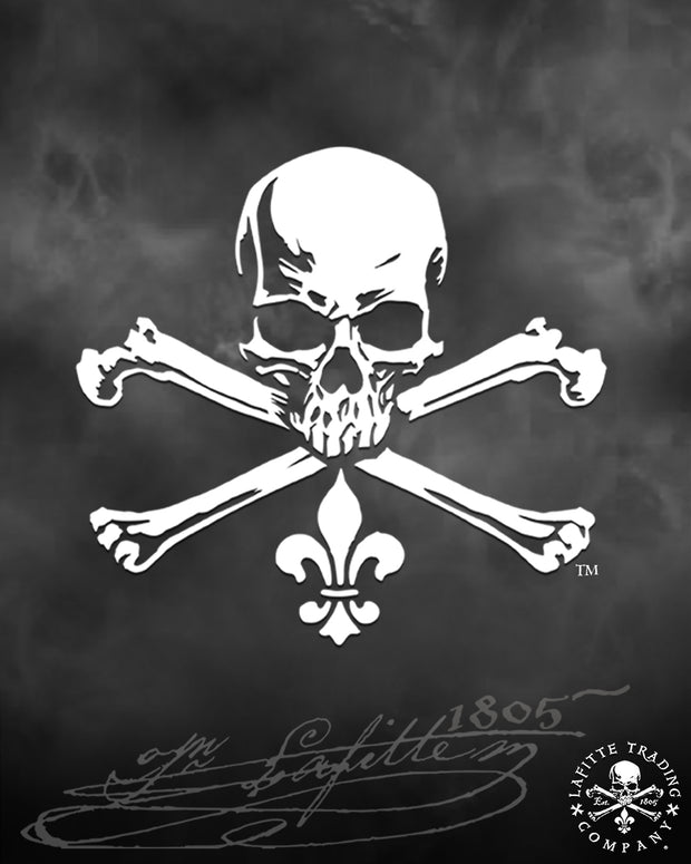 "Jean Lafitte ~ Jolly Roger 5"" Vinyl Decal"