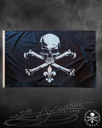 Jean Lafitte ~ Jolly Roger Balcony Flag