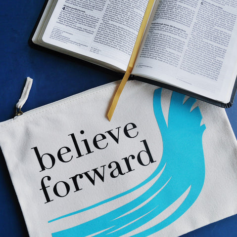 believe forward zip pouch and bible