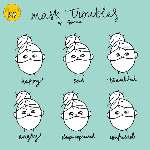 Grizzli Bear Gemma's diary mask troubles cartoon