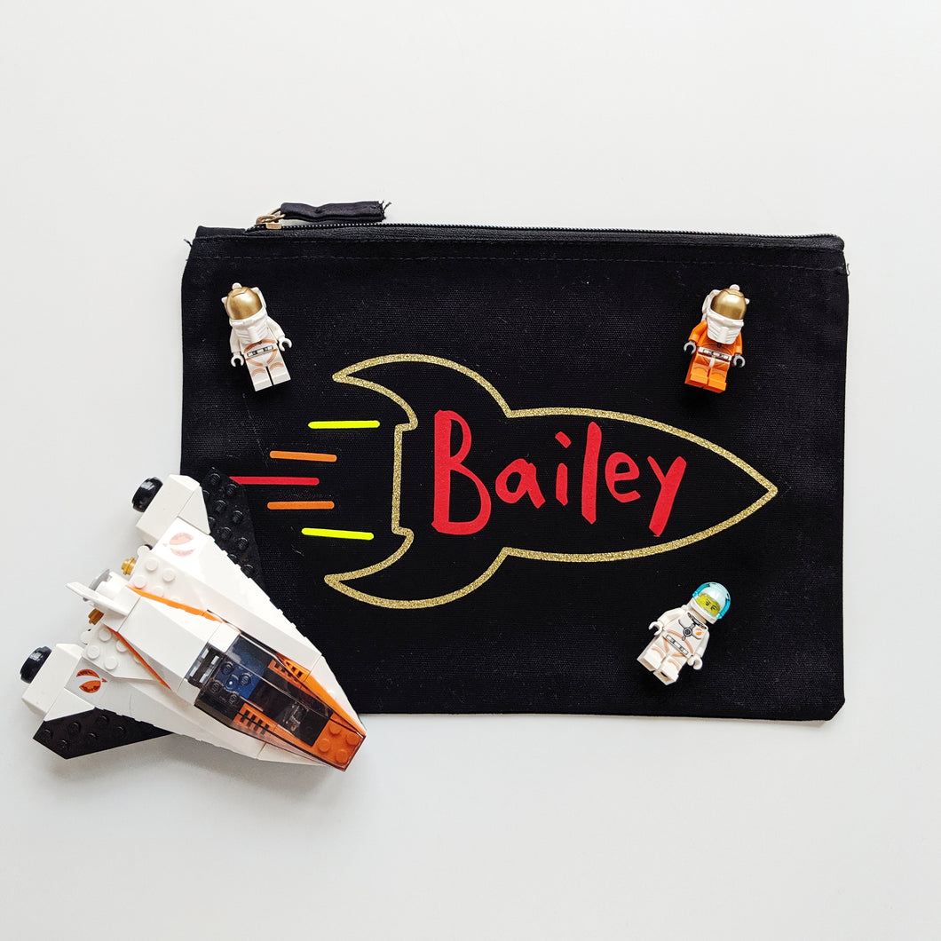 Personalised Rocket Pouch - Grizzli Bear