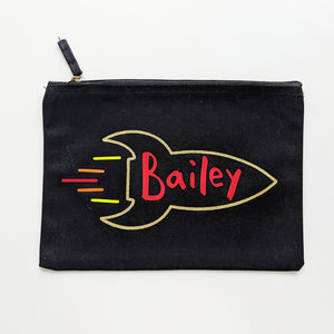 Personalised Rocket Pouch