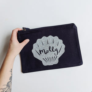 Personalised Shell Zip Pouch