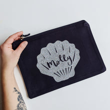 Load image into Gallery viewer, Personalised Shell Zip Pouch