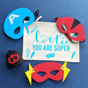 Custom You Are Super Pouch