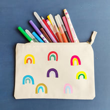 Load image into Gallery viewer, Double Rainbows Pencil Case