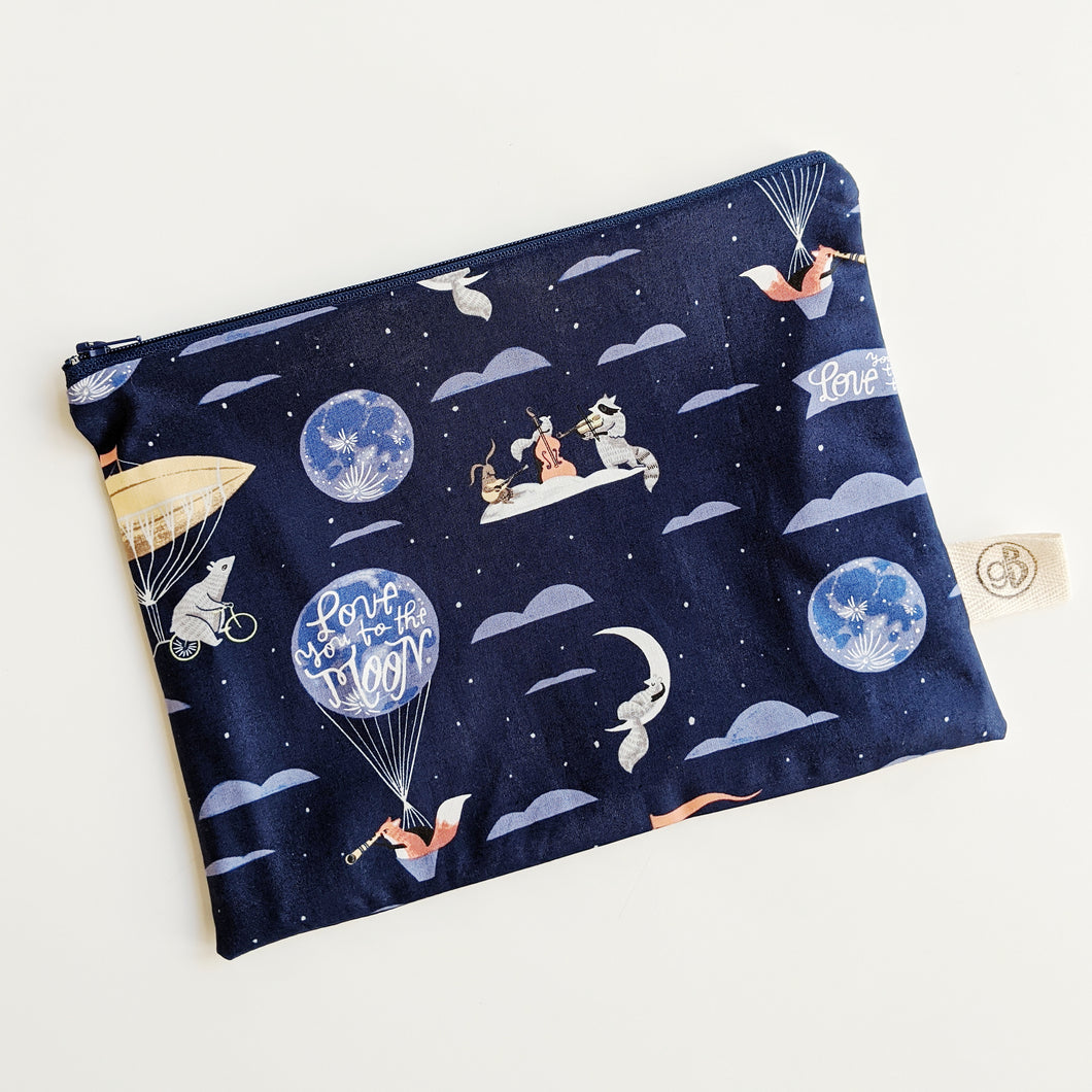 Love You To The Moon Zip Pouch