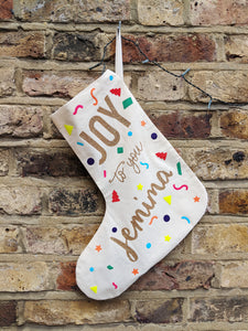 Joy to You Personalised Stocking
