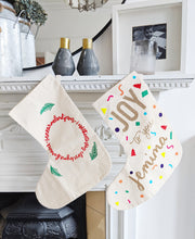 Load image into Gallery viewer, Joy to You Personalised Stocking