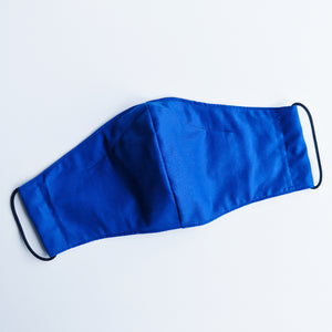 Bright Blue Adult Face Mask - Grizzli Bear