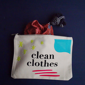 Nappies and Clean Clothes Pouch Set
