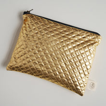 Load image into Gallery viewer, Gold Quilted Pouch