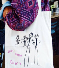Load image into Gallery viewer, Child's Artwork Tote Bag