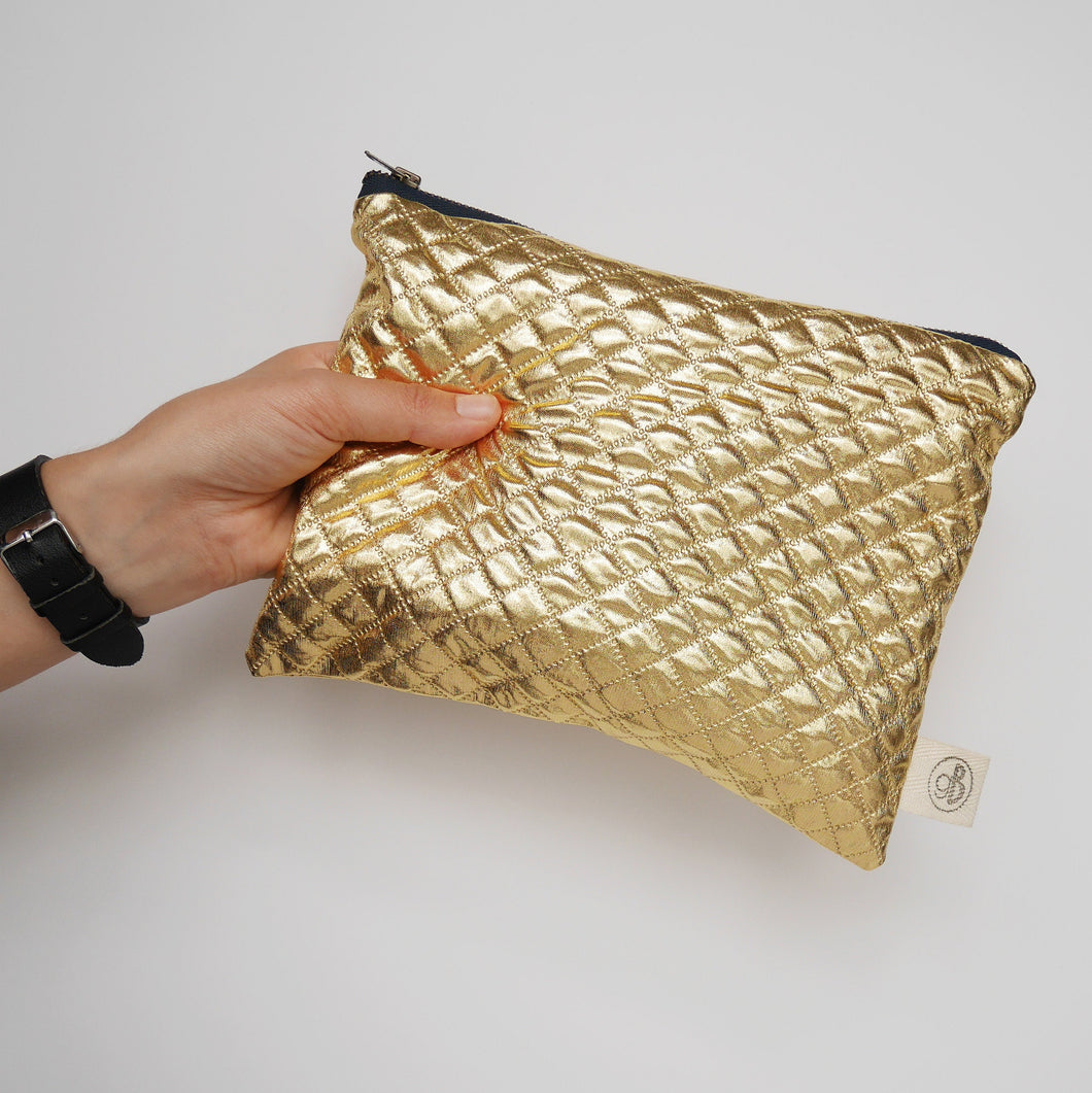 Gold Quilted Pouch
