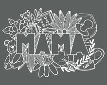 Load image into Gallery viewer, MAMA A4 Print Grey