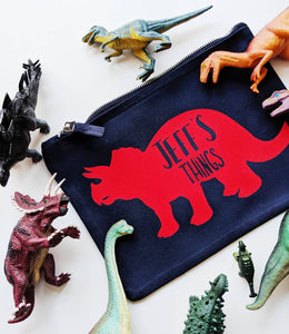 Personalised Dinosaur Zip Pouch