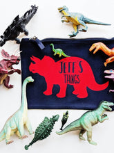 Load image into Gallery viewer, Personalised Dinosaur Zip Pouch