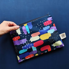 Load image into Gallery viewer, Rainbow Clouds Zip Pouch