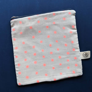 Fluro Pink Dots Large Pouch