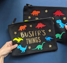 Load image into Gallery viewer, Rainbow Dinosaurs Custom Pouch