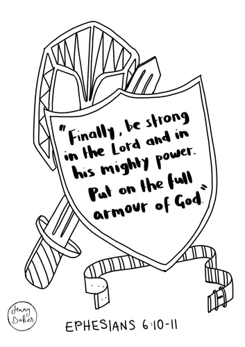 Colouring Page Ephesians 6:10-11