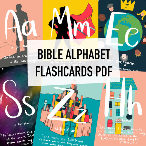 Bible Alphabet Flashcards (PDF) - Grizzli Bear