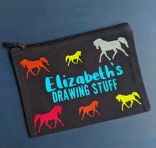 Load image into Gallery viewer, Rainbow Horses Custom Pouch - Grizzli Bear
