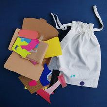 Load image into Gallery viewer, Drawstring Bag Mini Craft Kit - Grizzli Bear