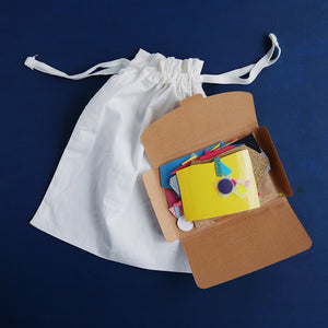 Drawstring Bag Mini Craft Kit - Grizzli Bear