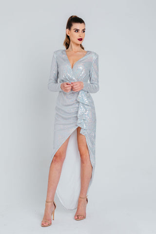 White Jacquard Satin Bodycon Midi Dress