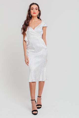 Iridescent Sequin Asymmetric Sweetheart Ruched Dress