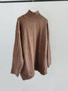 High Neck Oversize Longline Jumper
