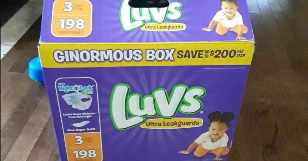 Two HUGE Luvs Diaper Boxes Only $44.95 Shipped or Less on Amazon