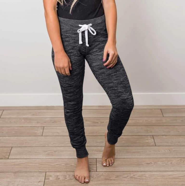 Heathered Tie Waist Jogger Pants $16 (Reg