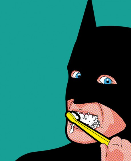 8 superheroes doing ordinary things