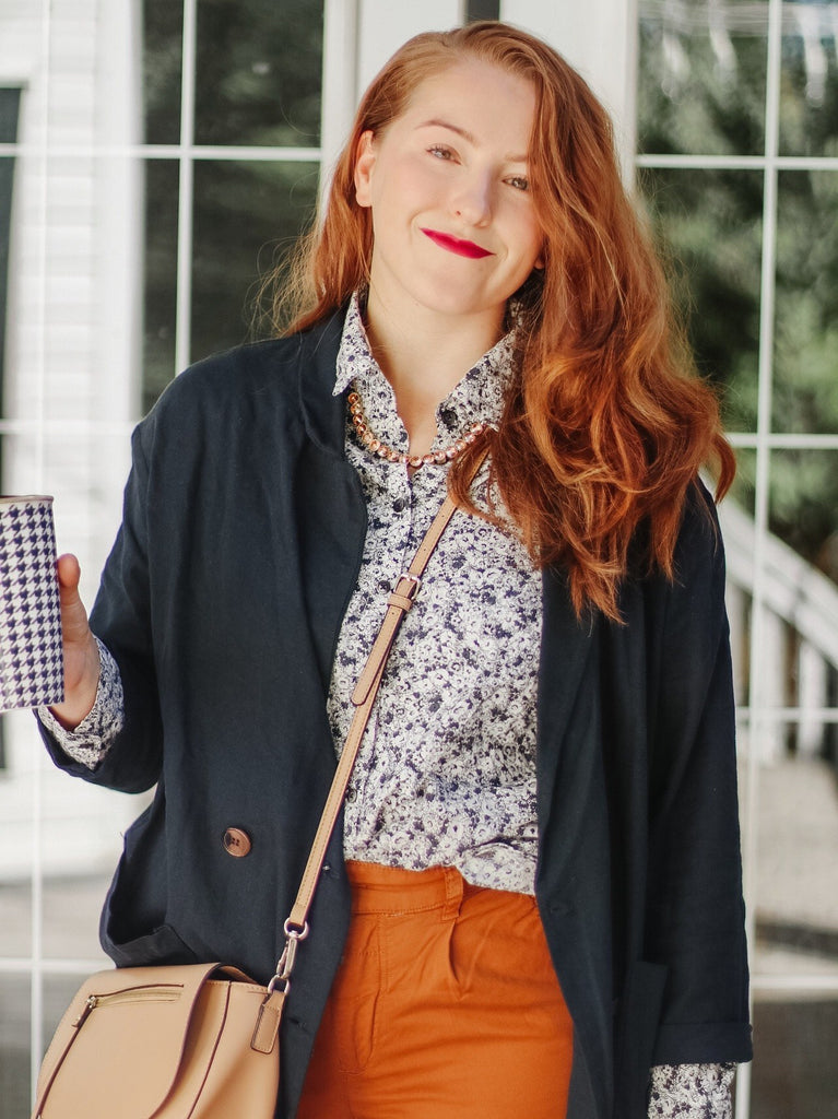 I am obsessed with burnt orange pants right now –  I saw them on a stranger at the store and now I own 3 new pairs of these stunning new pants that make me feel like a fall fashionista! Even better, I found this pair of burnt orange pants on sale...