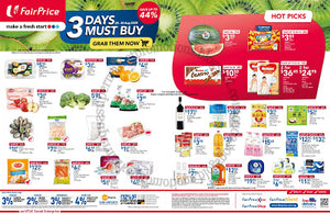 NTUC FairPrice 3 Days Must Buy Promotion 28 - 30 August 2020