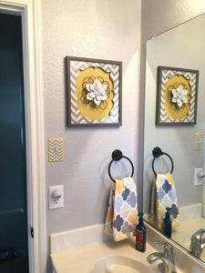 Luxurious Yellow And Gray Bathroom Decor