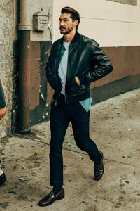 The leather jacket is one of the most potent garments in menswear