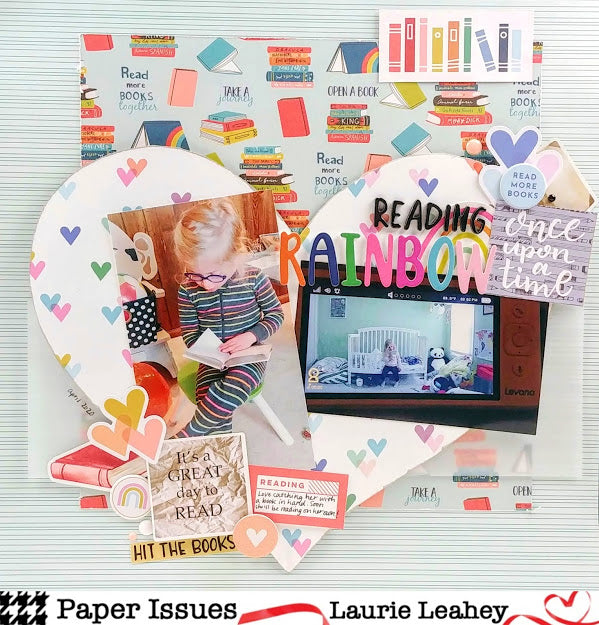 Reading Rainbow Scrapbook Page feat