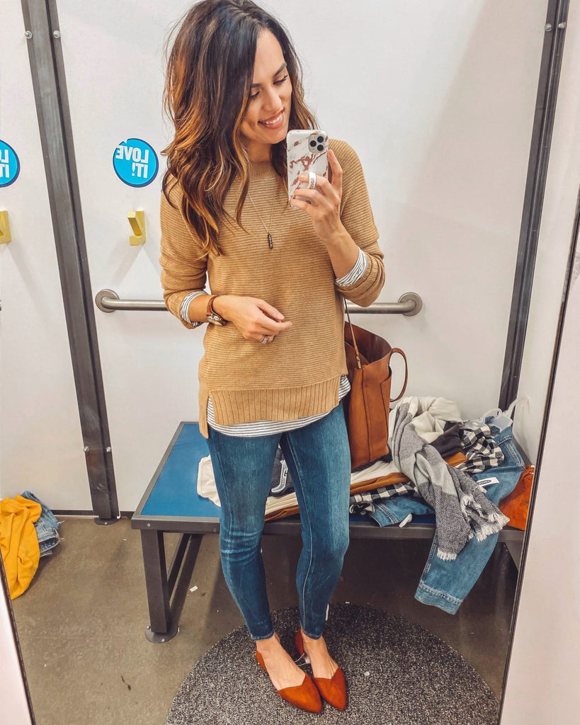 "One of my favorite ""field trips"" for work is putting together capsule wardrobe ideas for you guys…especially when they are budget friendly!  Tried to think outside my normal color choices for y'all too, because I get lots of requests to add in black..."
